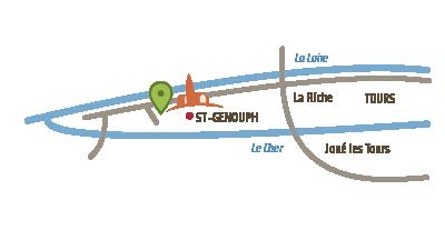 carte schematique les bio de l'Isle