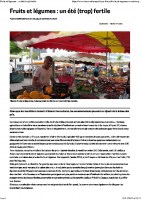 Fruits et légumes _ un été (trop) fertile – 02 septembre 2017 – La nouvelle république
