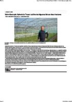 Sylvain Le Thuaut cultive des légumes bio sur deux hectares – 30_04_2021 – La Nouvelle République Indre-et-Loire